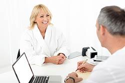 consultation avec le médecin thermal